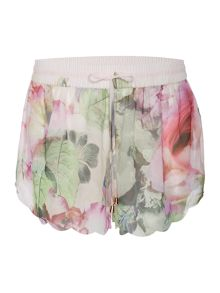 Peony scole cover-up shorts