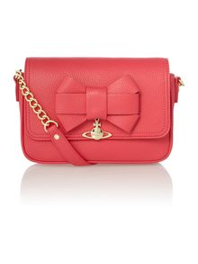 Bow pink shoulder bag bag