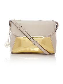 Crosby gold cross body bag