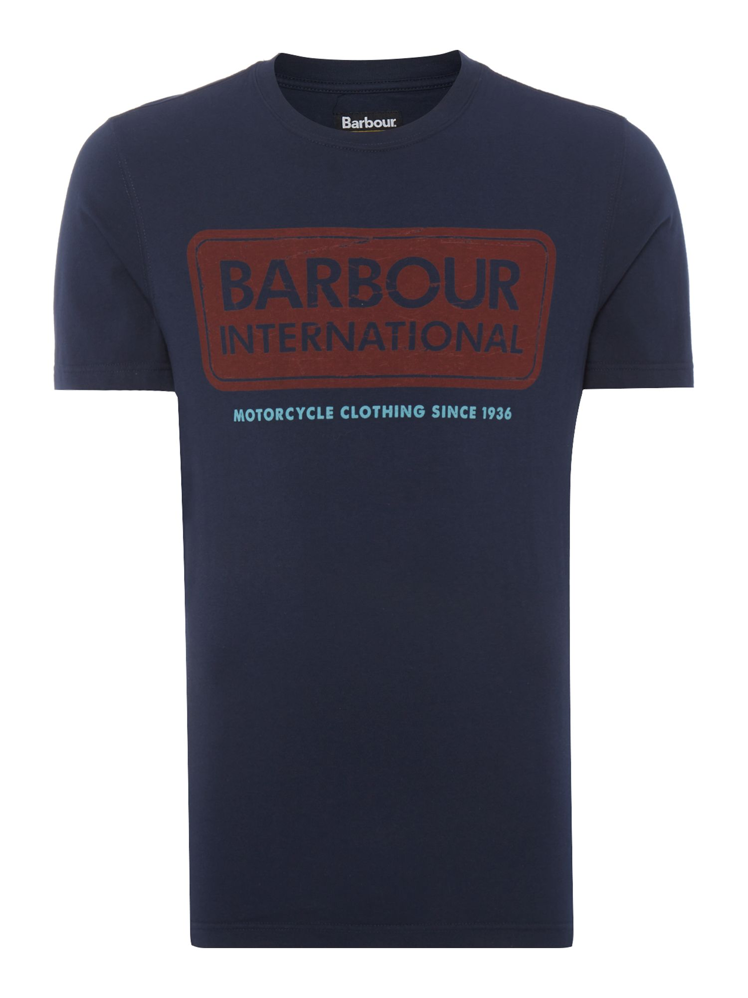 Men's Barbour International logo t-shirt, Blue