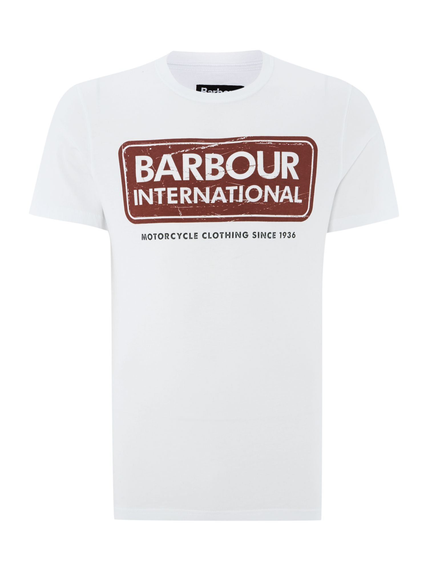Men's Barbour International logo t-shirt, White