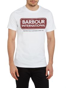 Barbour International logo tee