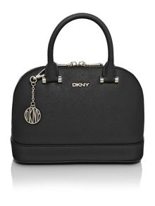 Saffiano black mini dome bag