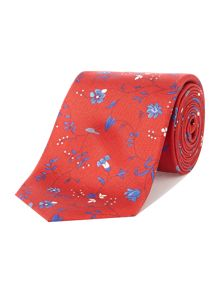 New & Lingwood Loxly floral print silk tie