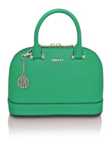 Saffiano green mini dome bag