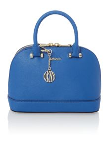 Saffiano blue mini dome bag