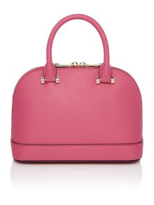 Saffiano pink mini dome bag