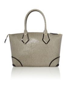 Frilly Snake grey large tote bag