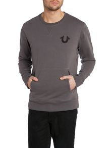 Crew neck sweatshirt with tr71 print