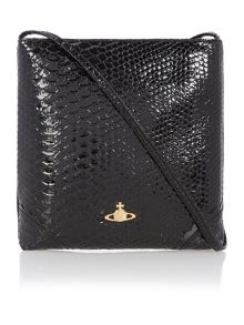 Frilly Snake black cross body bag