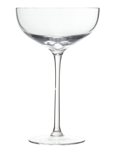 LSA Arlo Champagne Saucer 230ml Clear x 4