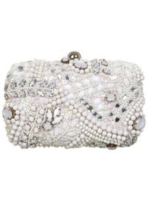 White Swirl Embellished Case