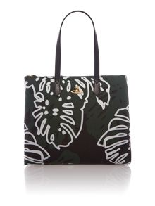 Palm Springs multi green large ns tote bag