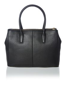 Tribeca black double zip tote bag