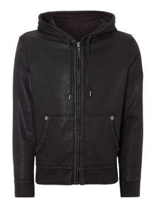 Coated hooded sweatshirt