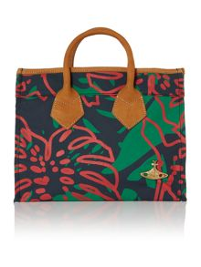 Africa multi coloured medium tote bag