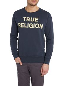 True religion text sweatshirt