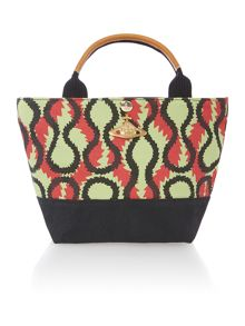 Africa multi coloured small print shopper