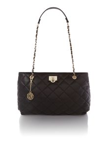 Quilted nappa black medium tote bag