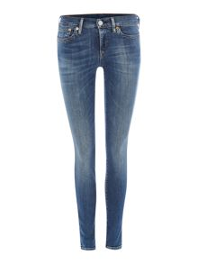 True Religion Chrissy mid rise super skinny jean in plumber