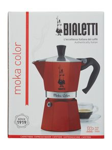 Bialetti Moka Colour Express Red (6 Cup)
