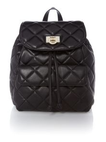 Quilted nappa black backpack