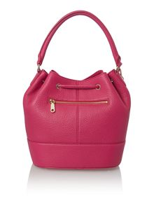 Tribeca pink drawstring bucket bag