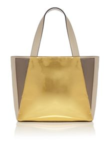 Crosby gold tote bag