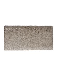 Frilly Snake grey large flap over purse