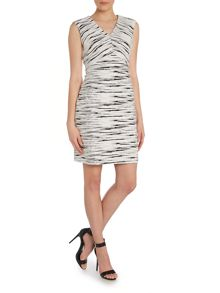Vince Camuto V neck jacquard dress
