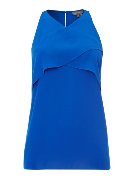 Vince Camuto Sleeveless frill crossover top