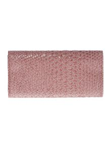 Frilly Snake pink large flap over purse