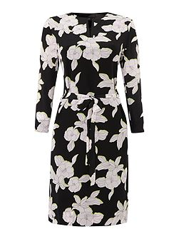 Tunic dress with floral print