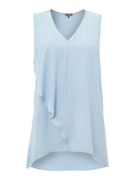 Vince Camuto Sleeveless frill front top