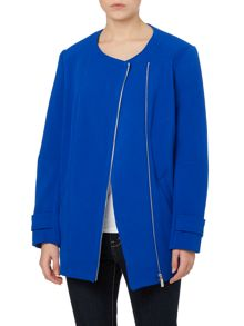 Placket biker coat