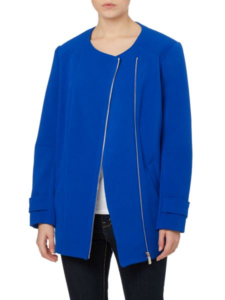Vince Camuto Placket biker coat