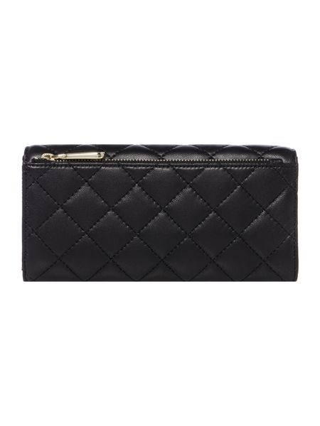 DKNY Quilted nappa black large flap over purse