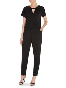 Shortsheeved v neck jumpsuit