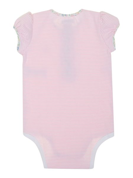 Polo Ralph Lauren  Girls All In One Stripe Floral Placket