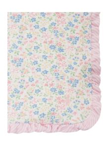 Baby girls floral blanket