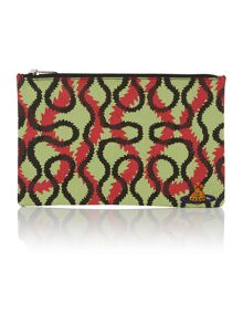 Africa multi coloured squiggle pouch