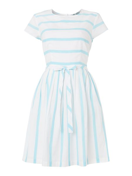 Candy stripe dress £59 from Dickins and Jones