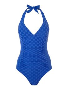 Textured Spot Swimsuit