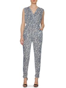 Shadow tribe print jumpsuit