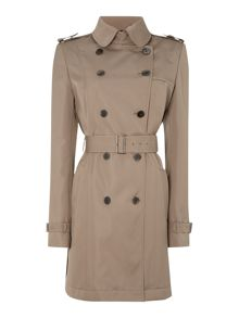 Casinda Padded Double Breast Trench Coat