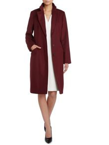 Clena Wool Stand Up Collar Belted Coat