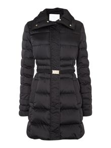 Pidenia Belted Sports-Luxe Padded Coat