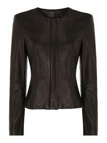Clean Short Leather Jacket