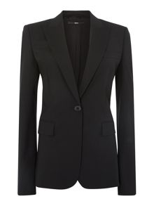 Juicy6 One Button Wool Stretch Jacket
