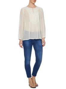 Cemona embroidered blouse